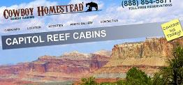 Cowboy Homestead Cabins web design