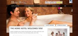 Home Hotel web design