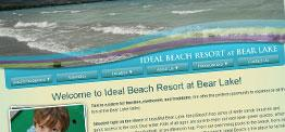 Ideal Beach Resort web design