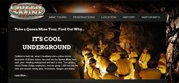 Queen Mine Tour web design
