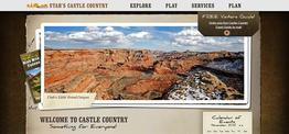 Castle Country Travel Region web design