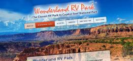 Wonderland RV Park web design