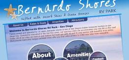 Bernardo Shores RV Park web design