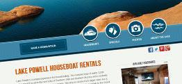 Lake Powell Houseboat Rentals web design
