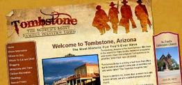 Tombstone Chamber of Commerce web design