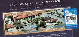 Fountain of Youth Spa & RV Resort web design