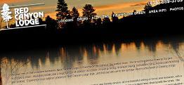 Red Canyon Lodge web design