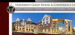University Guest House web design